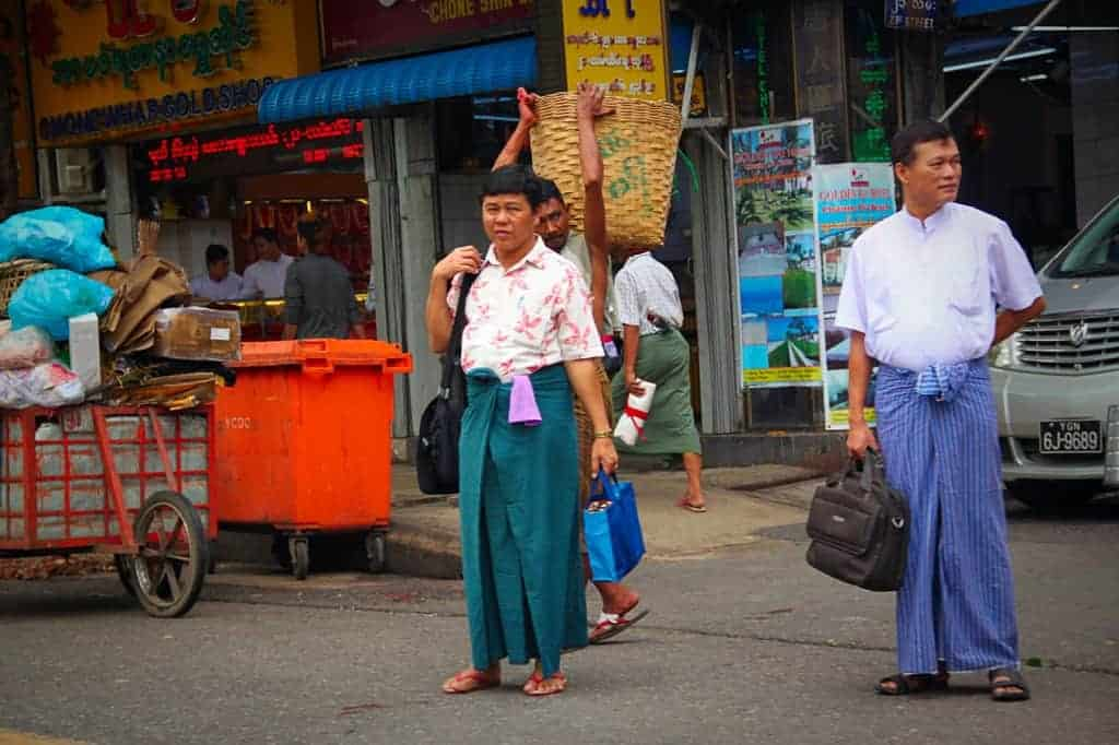 one of the interesting facts about Myanmar is that men wear skirts in this country.