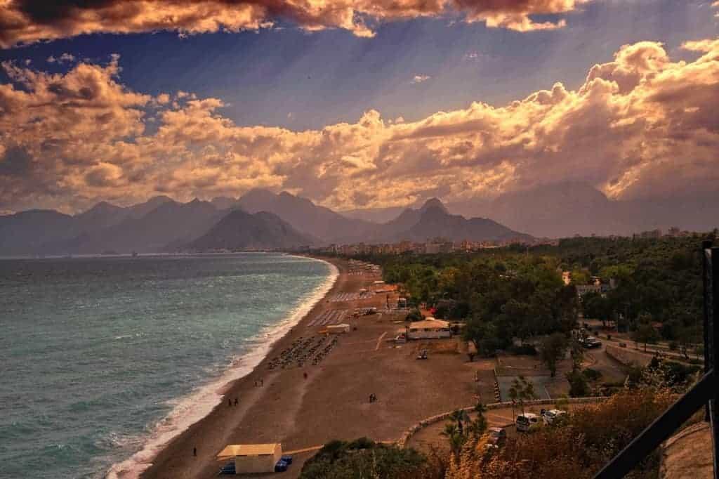 The coast of Antalya Turkey