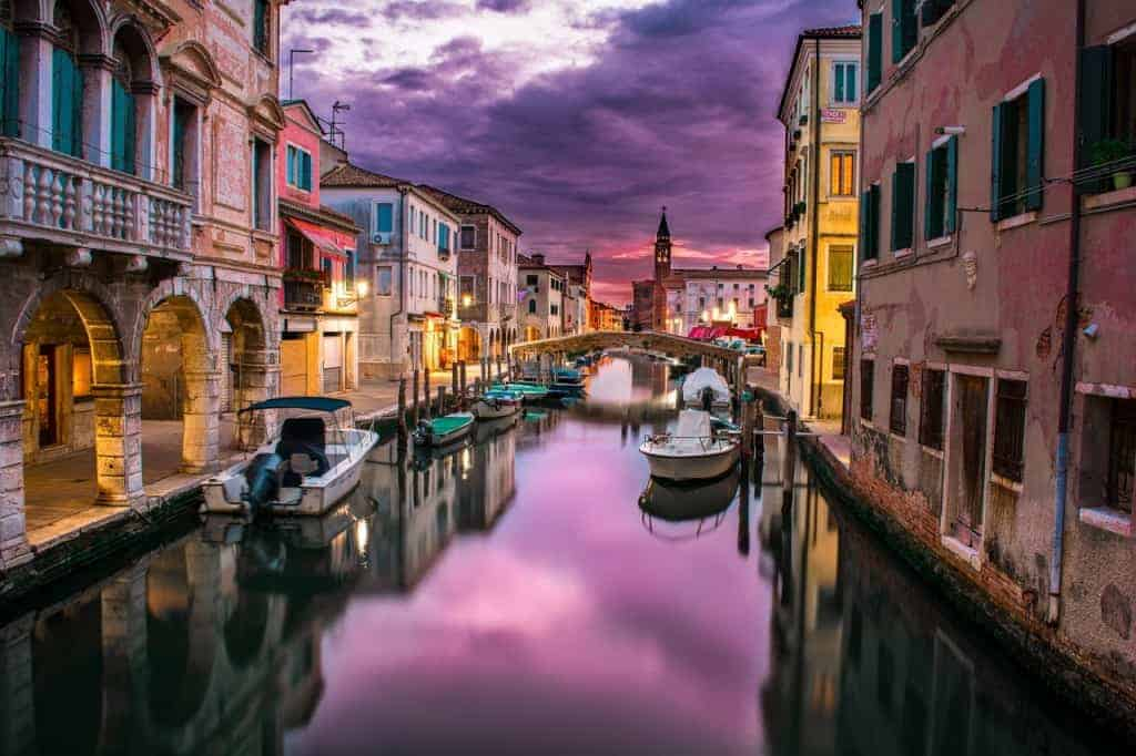 The famous Venice canals.