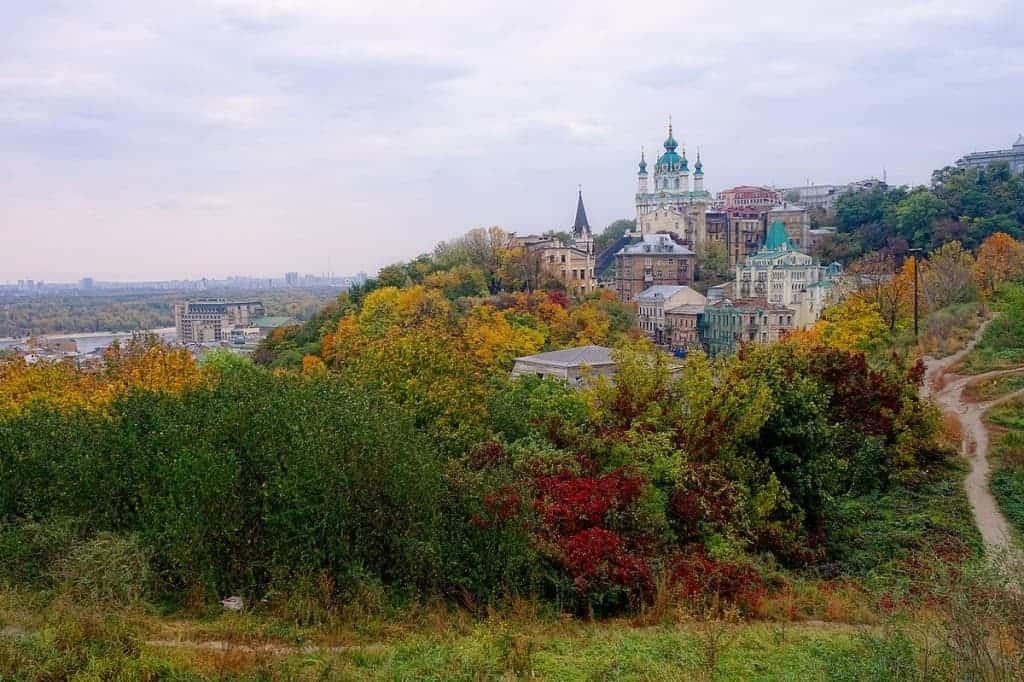 zamkova hora kiev ukraine outside autumn fall