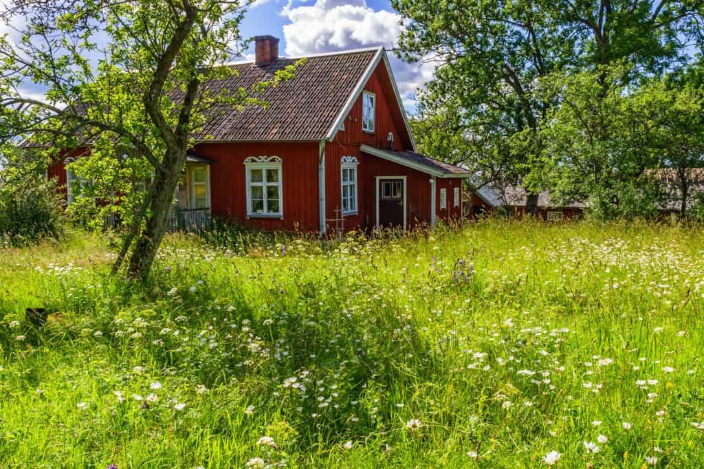 moderne Häuser im Schweden-Stil