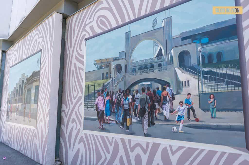 Fresques et murs peints - Rive Gauche - Fresque Art Déco | Blog In Lyon