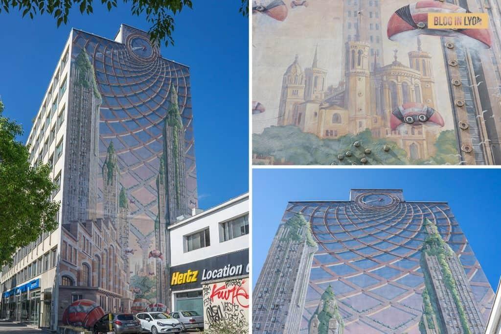 Fresque Lumière - Mur peint Lyon | Blog In Lyon