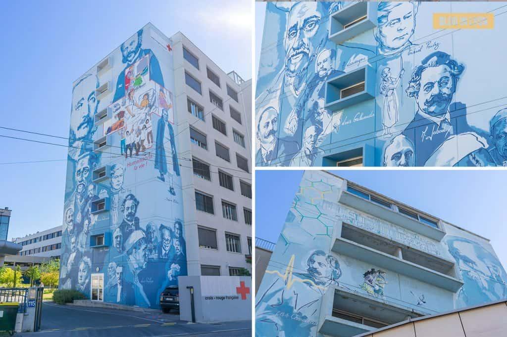 Fresque Lyon, la santé, la vie - Top 15 des plus beaux murs peints de Lyon | Blog In Lyon