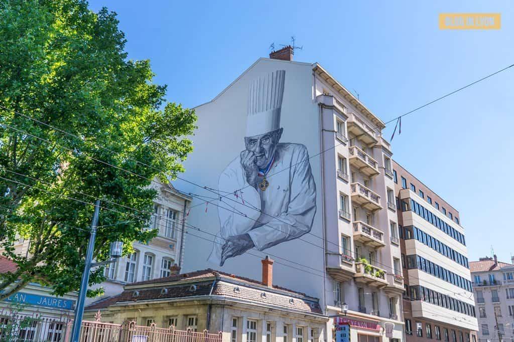 Fresque Paul Bocuse - Top 15 des plus beaux murs peints de Lyon | Blog In Lyon