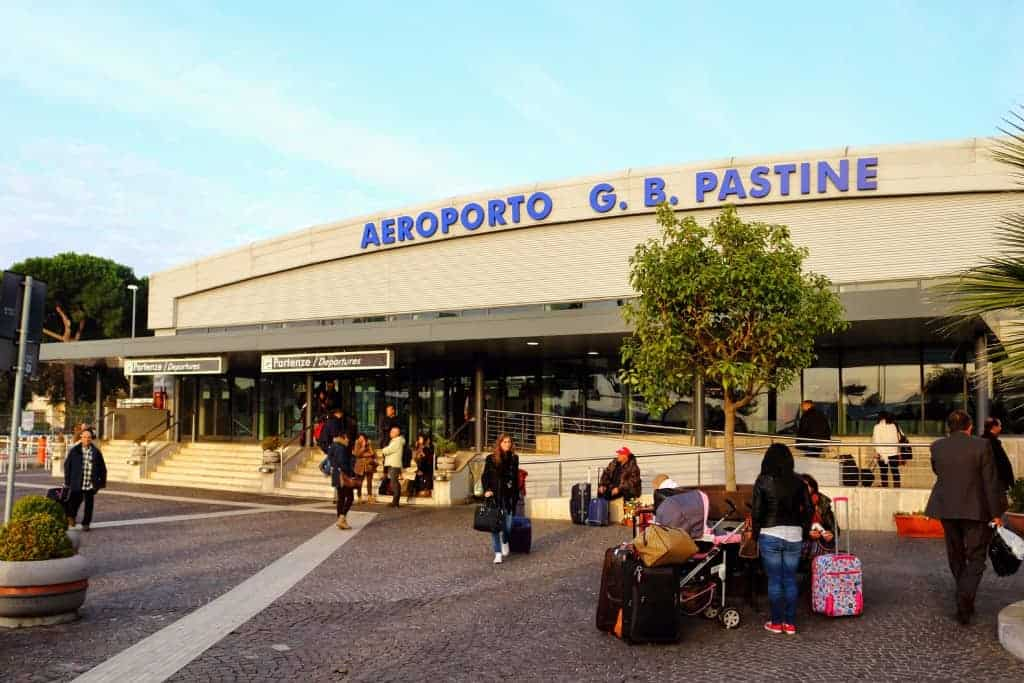 Rome Ciampino Airport from the outside building