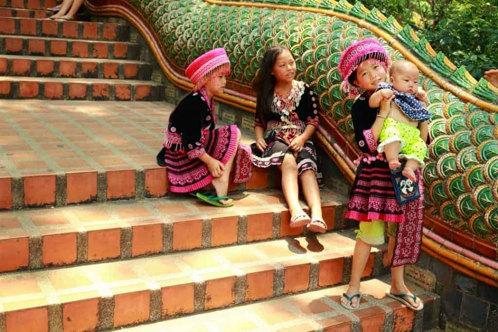 stairs children temple
