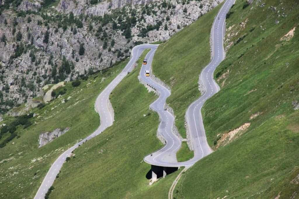 Furka Pass is one of the best and most exciting places to go in Switzerland.