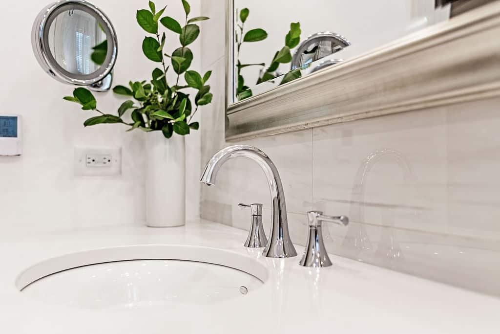 sink closeup on the vanity top