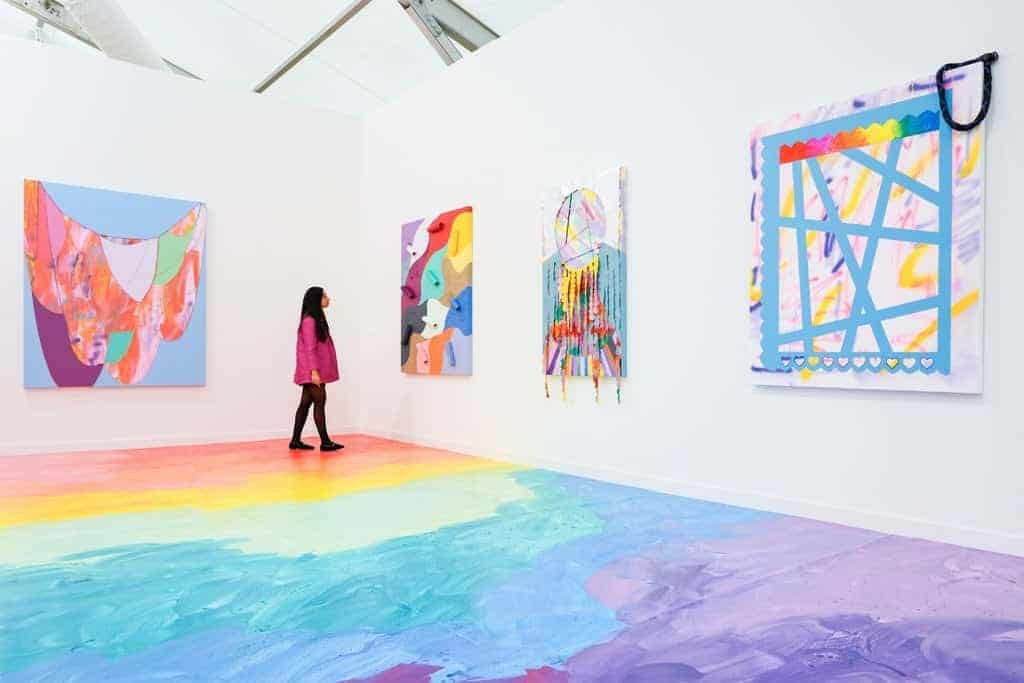 Sarah Cain - Galerie Lelong - Frieze New York 2019