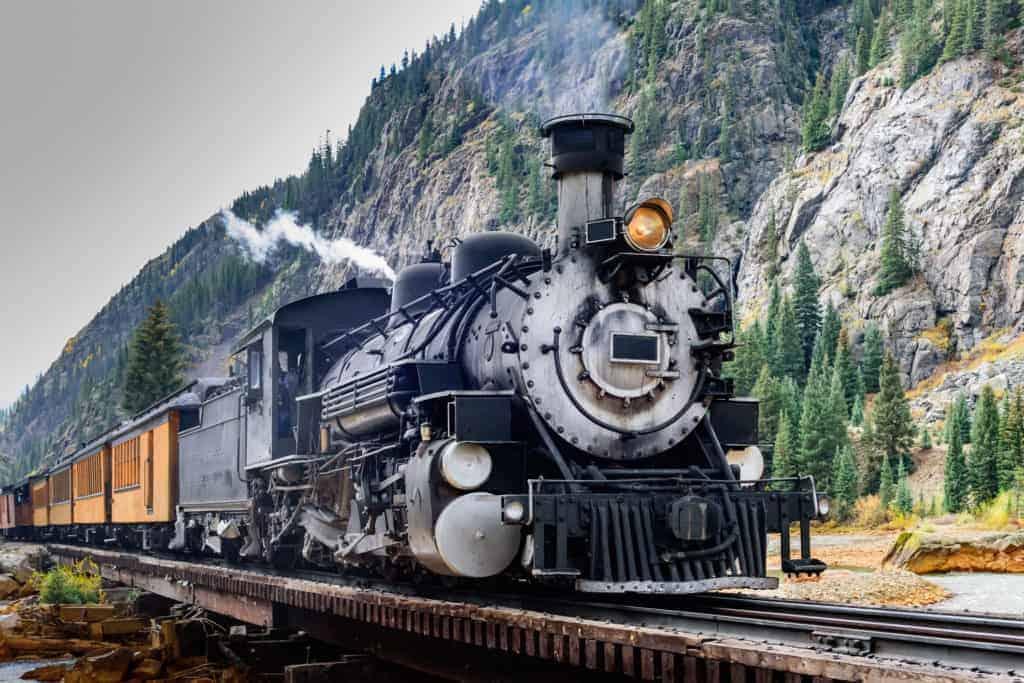 Durango & Silverton Train in Colorado.