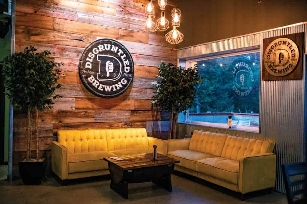 Seating area in Disgruntled Brewing.