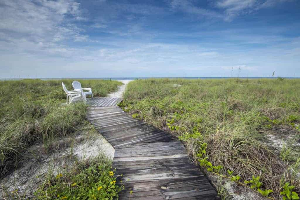 Whitney Beach in Longboat Key, Florida.