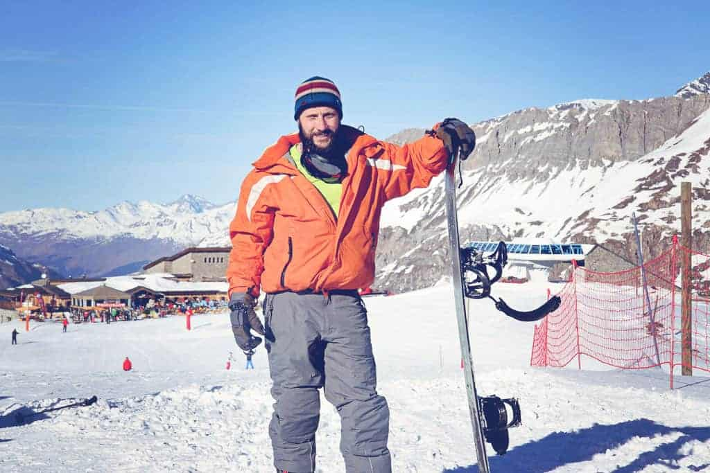 snowboarding in Val d'sere