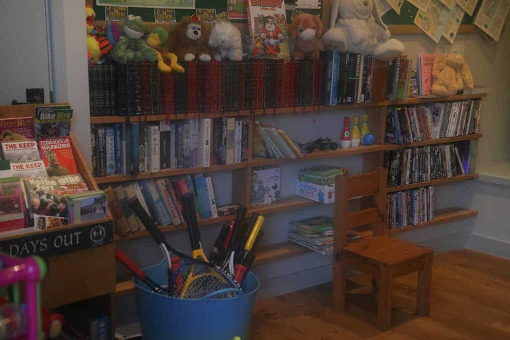 DVD library and toys at Greenwood Grange