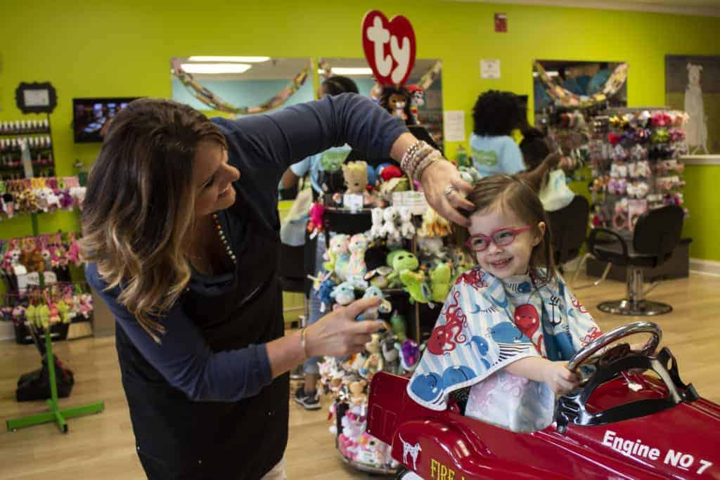 Pigtails & Crewcuts franchise owner Maura Parks' children's hair salon