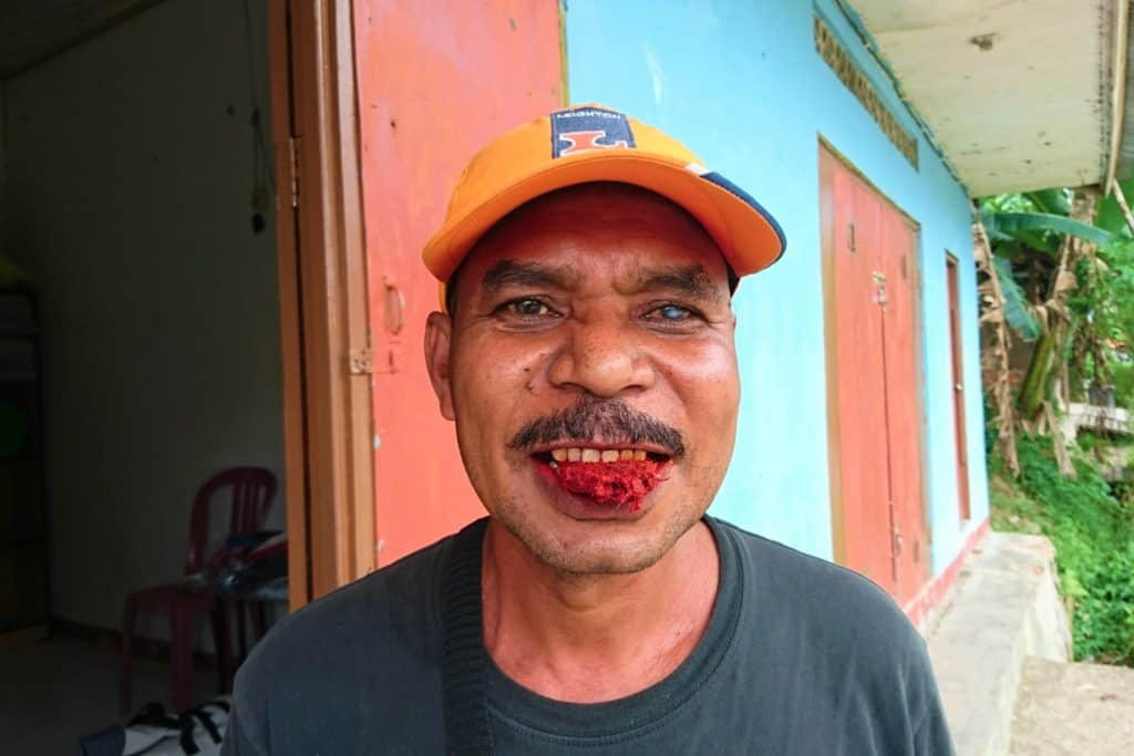 Papuan chewing Betel Nut