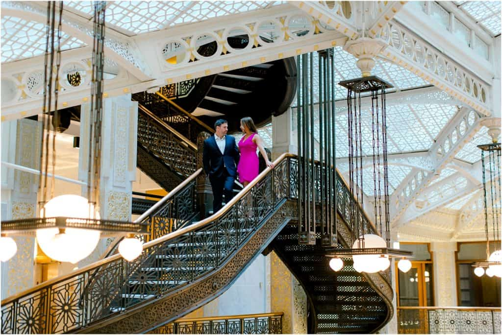 Chicago Rookery Building Engagement Session
