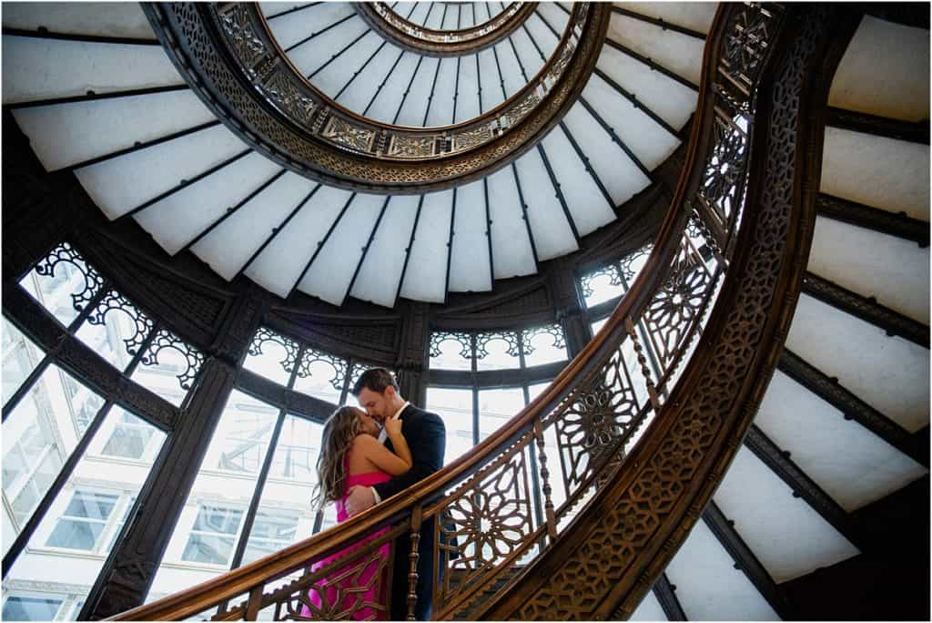 Rookery Building Engagement Session in Chicago