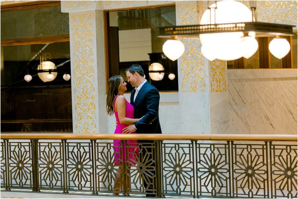 The Rookery Building Engagement Session photos and posing