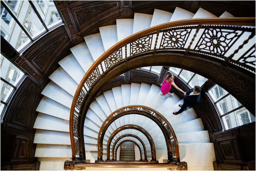 The Rookery Building Engagement Session best chicago photographer