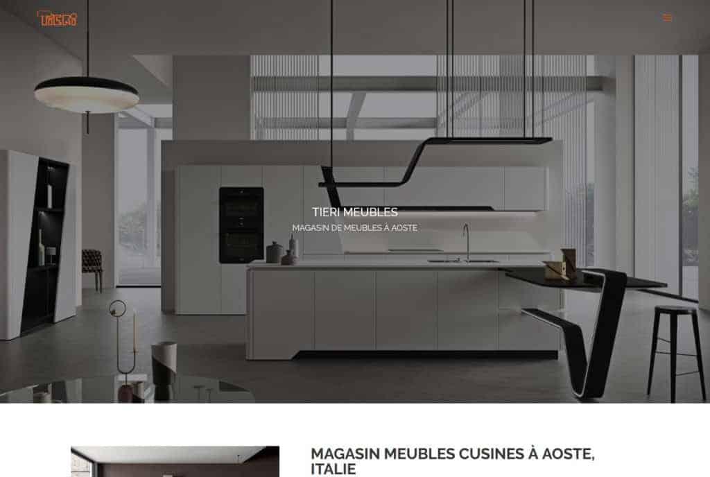 Magasin meubles cuisines Aoste