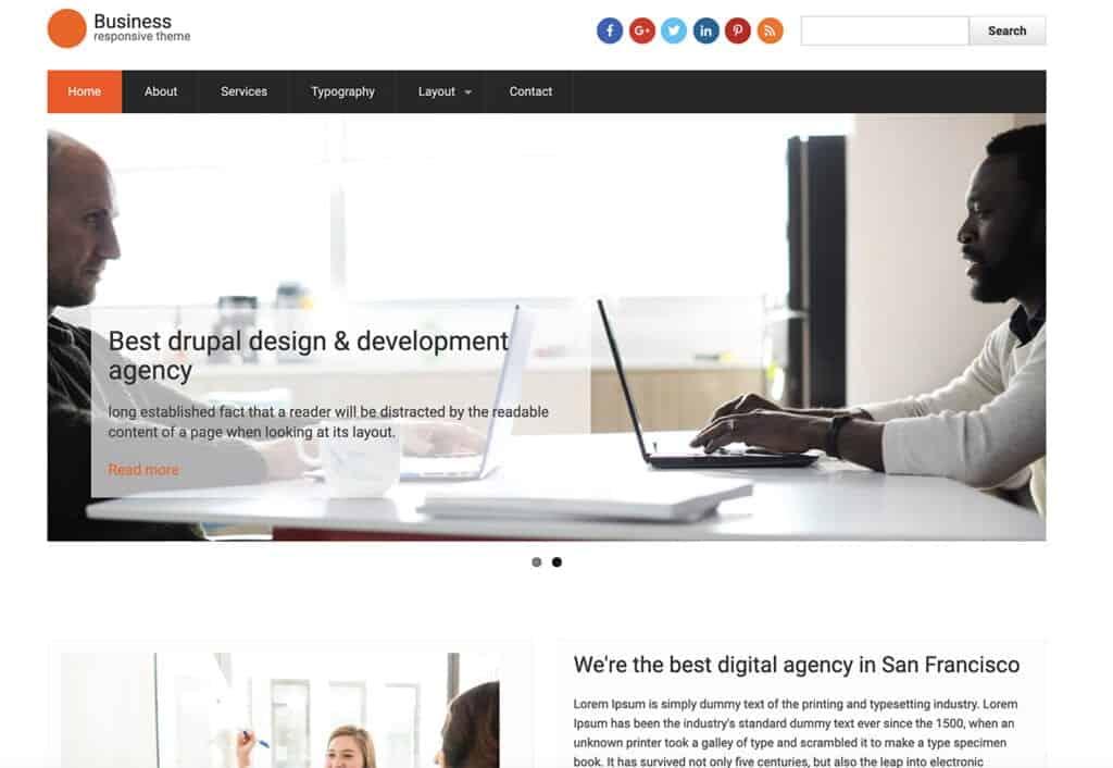 Business Responsive Theme free drupal theme
