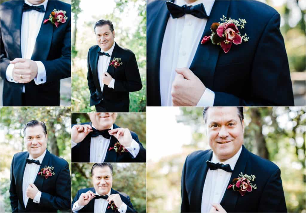 groom style, groom posing, groom pictures Alfred Caldwell Lily Pool wedding pictures