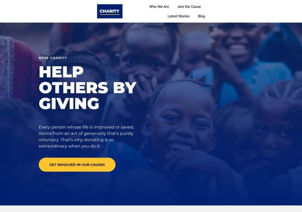 neve free charity theme