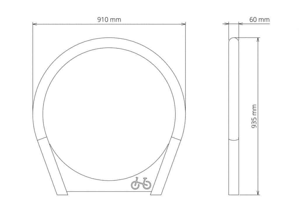 Urbania Fahrradständer Tubo 6