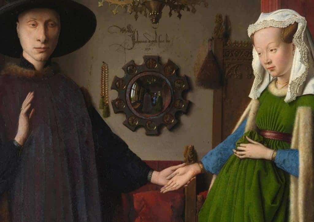 Jan van Eyck, Arnolfini Portrait (detail), 1434.