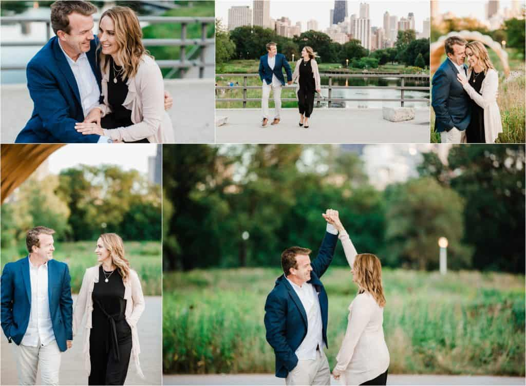 Chicago session for couples in Lincoln park zoo