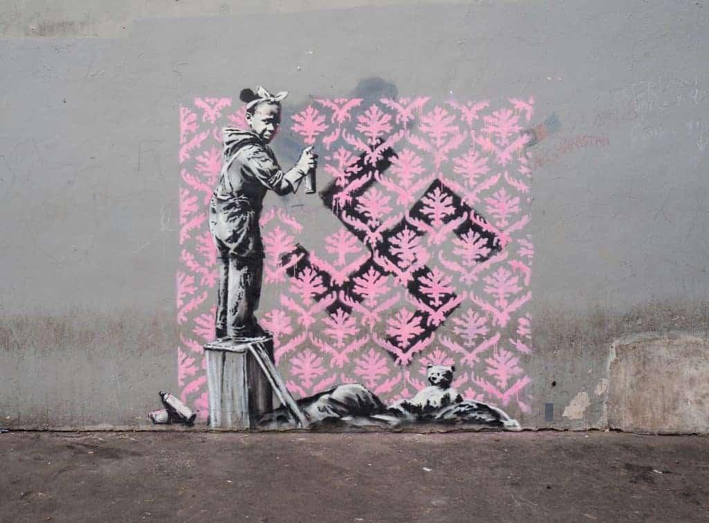 Banksy, Trompe l'oeil