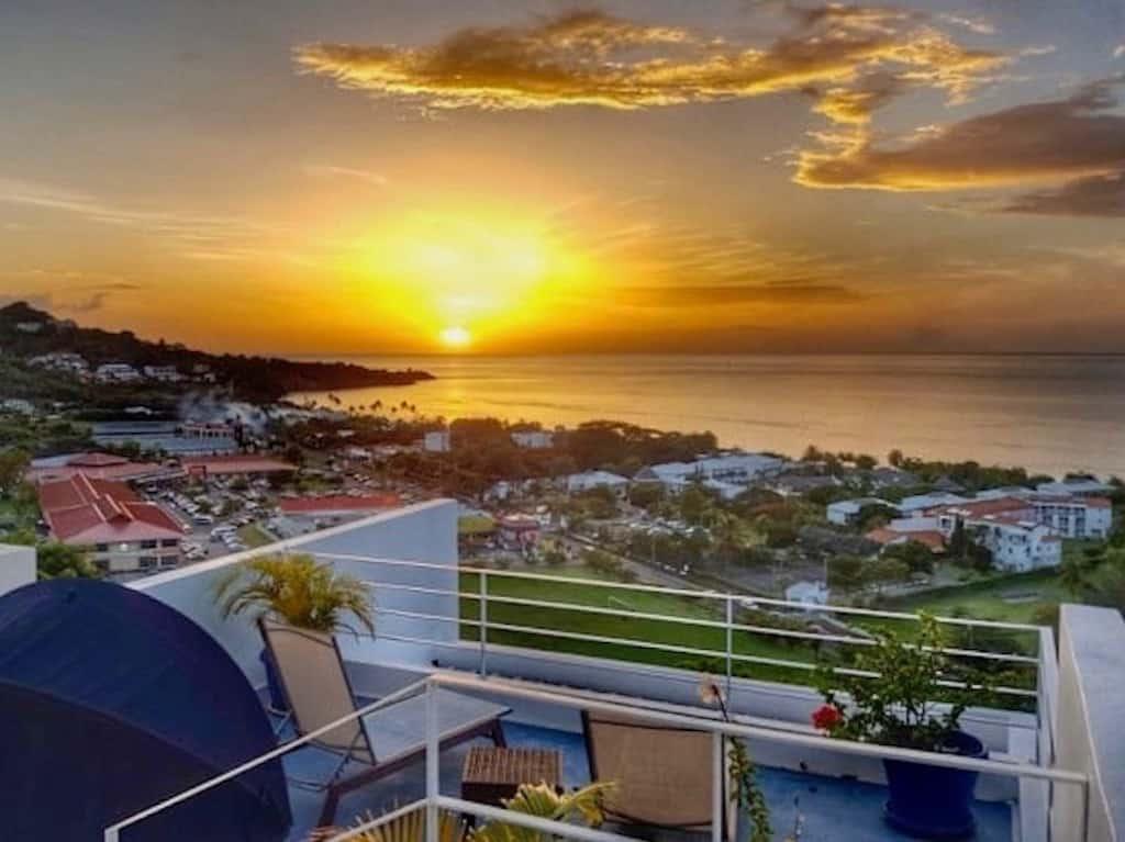 Ausblick von Johannas Haus Bella Blue Grenada