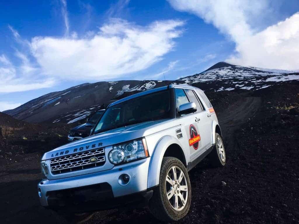 jeep tour on mount etna