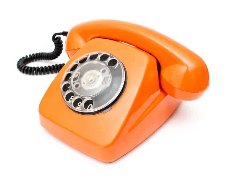 orange old telephone