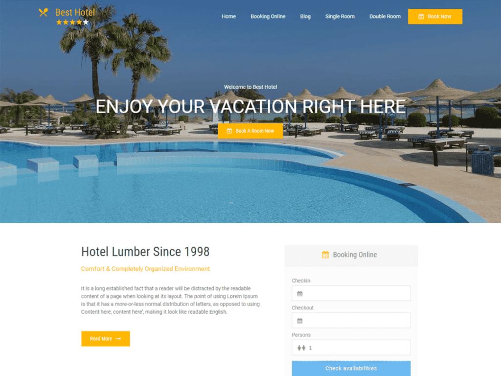 Best Hotel wordpress theme