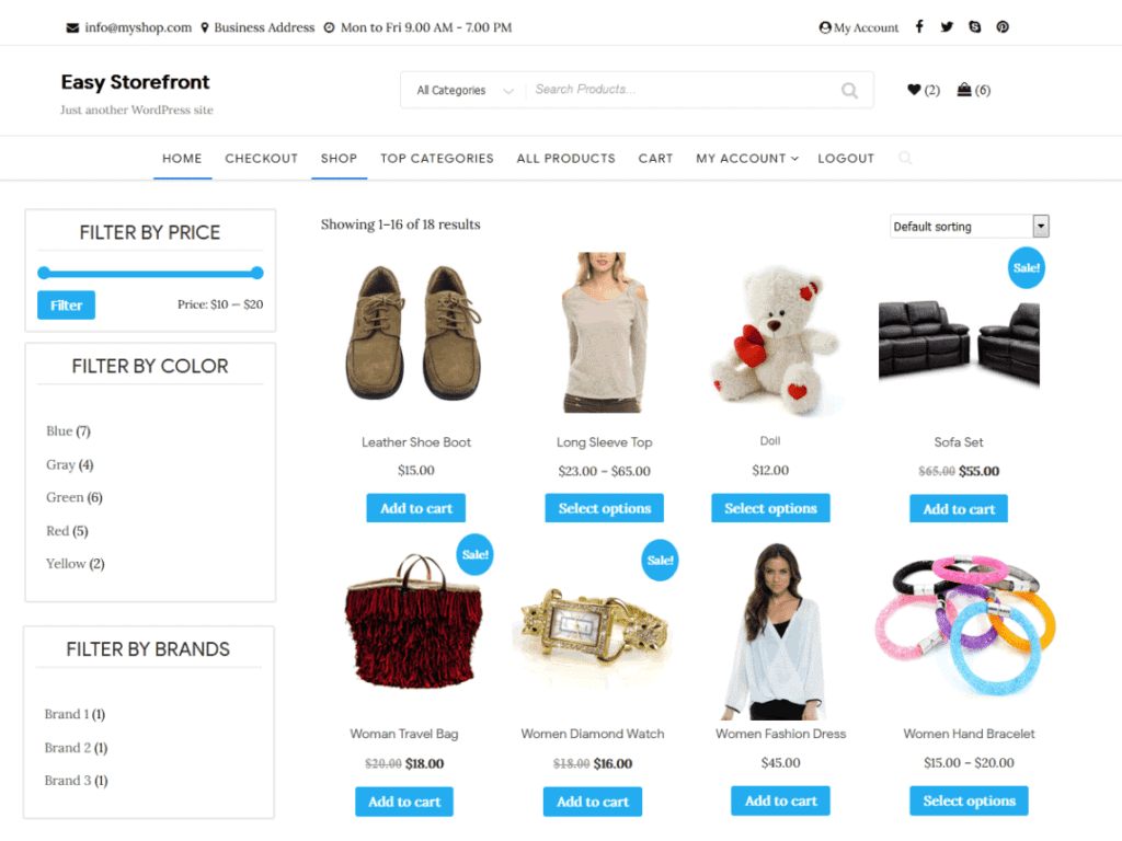 Easy Storefront pro best woocommerce