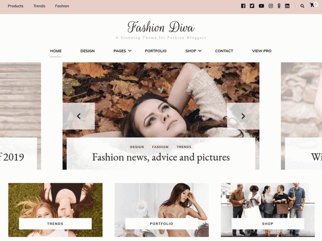 Fashion Diva fashion theme
