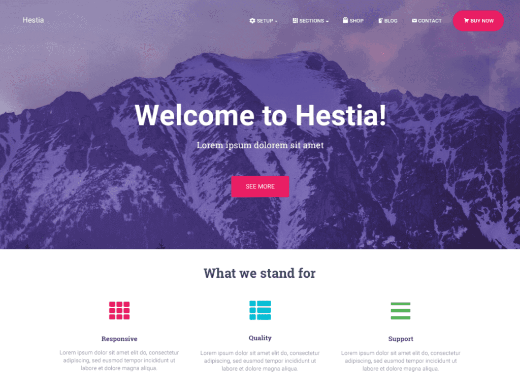 hestia fremium theme