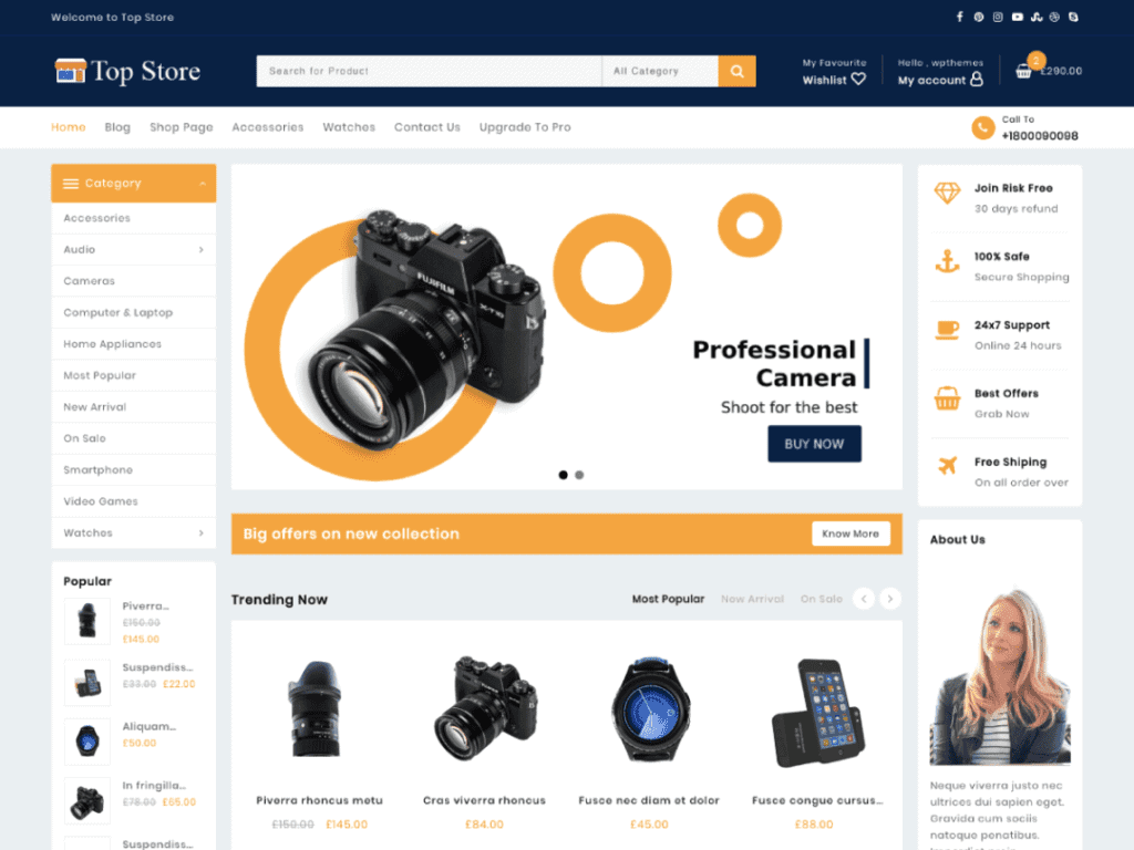 Top Store best woocommerce
