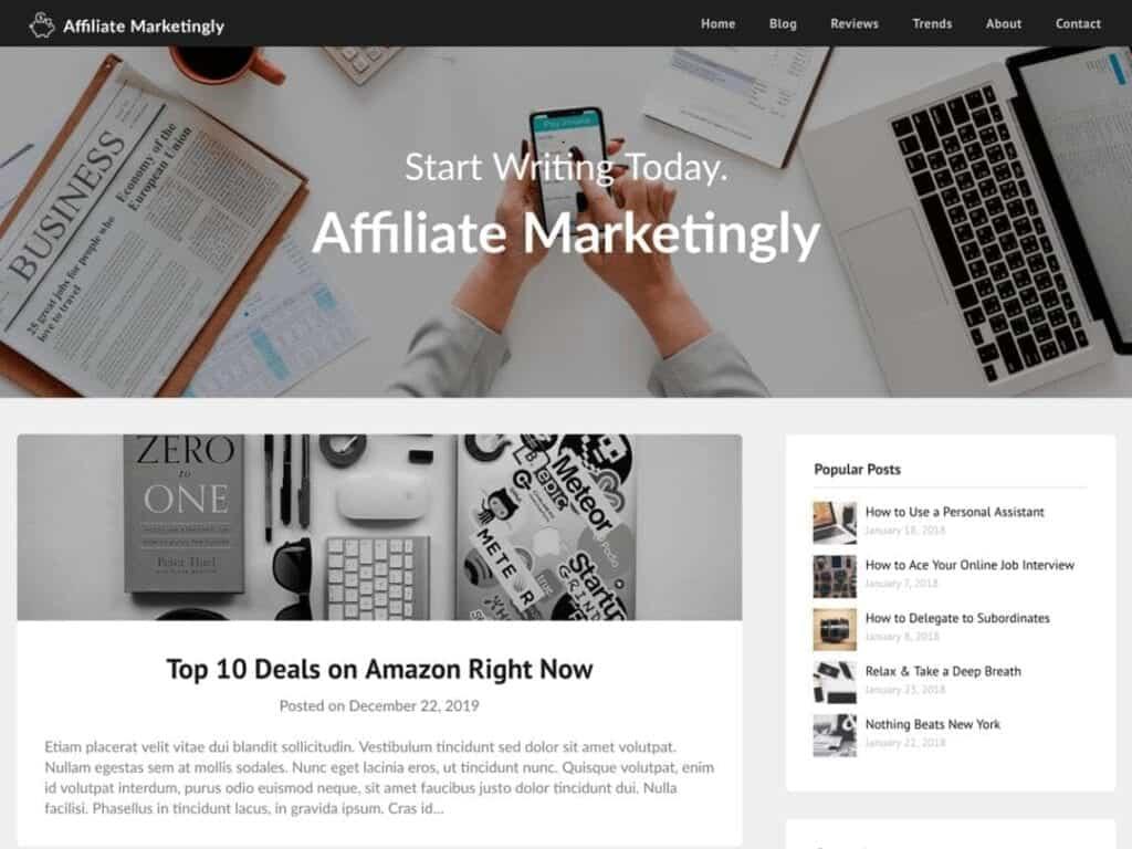 Best Free Affiliate WordPress Themes