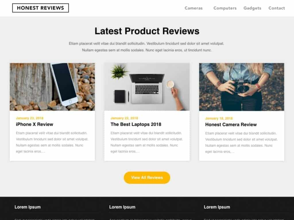 Best Free Review WordPress Themes