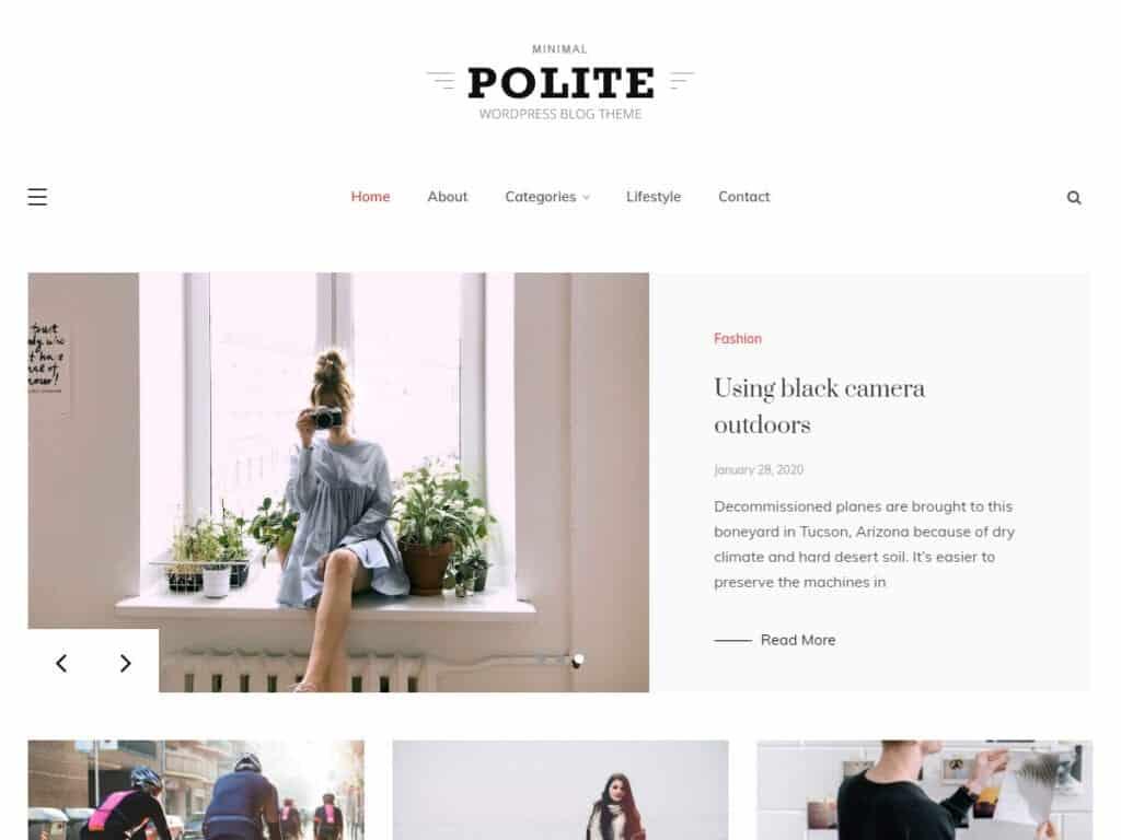 polite theme free