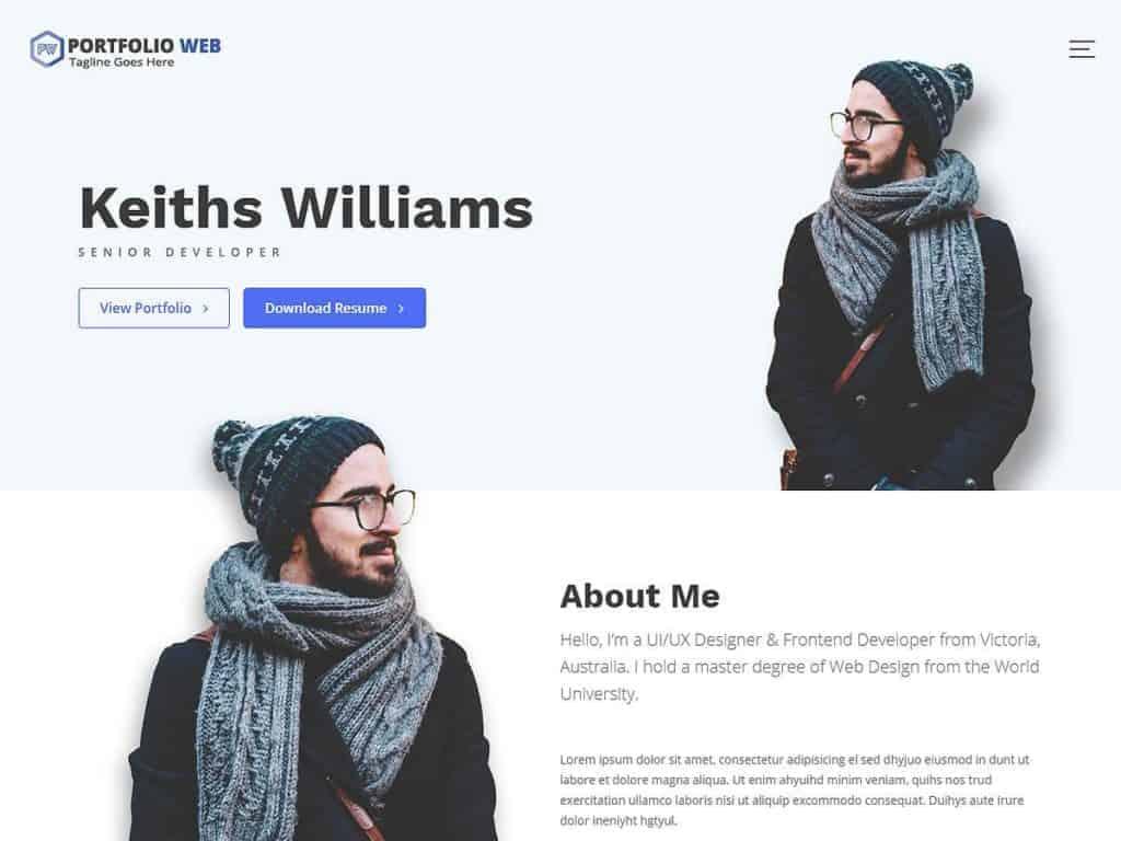 Portfolio Web best portfolio wordpress