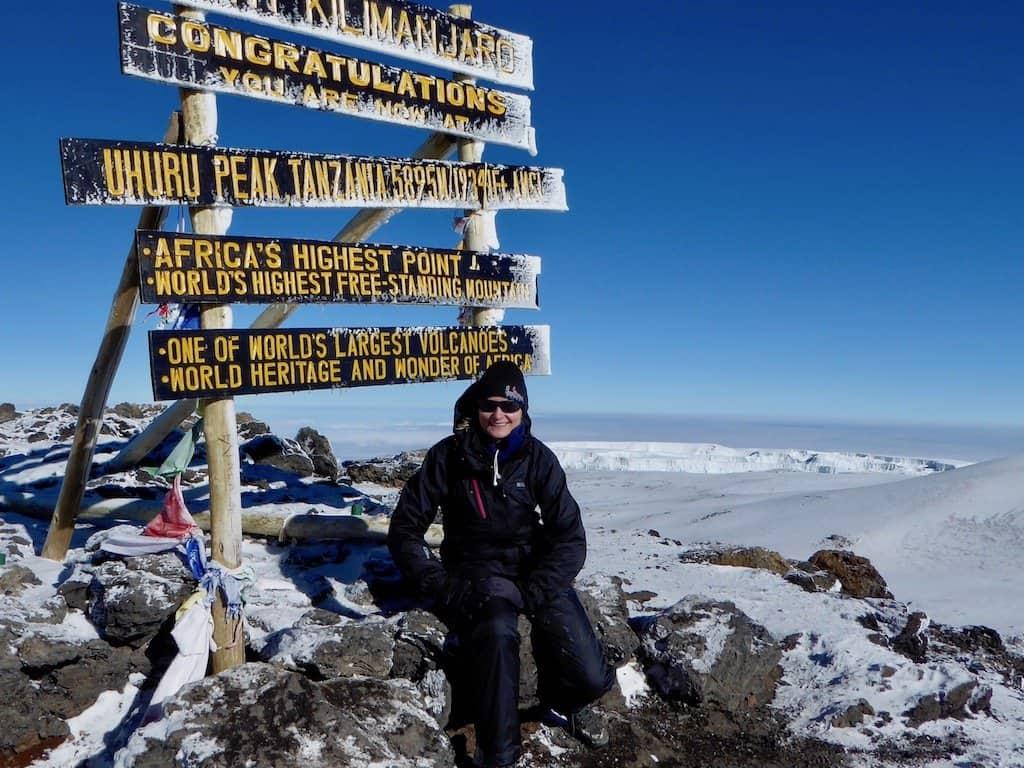 Kilimandscharo-Besteigung: Auf dem Gipfel