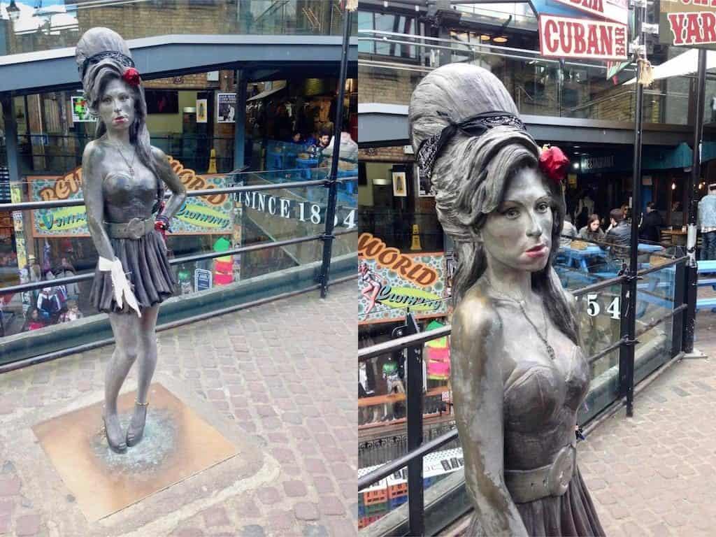 Camden Market in London: Hier steht die Amy Winehouse Statue