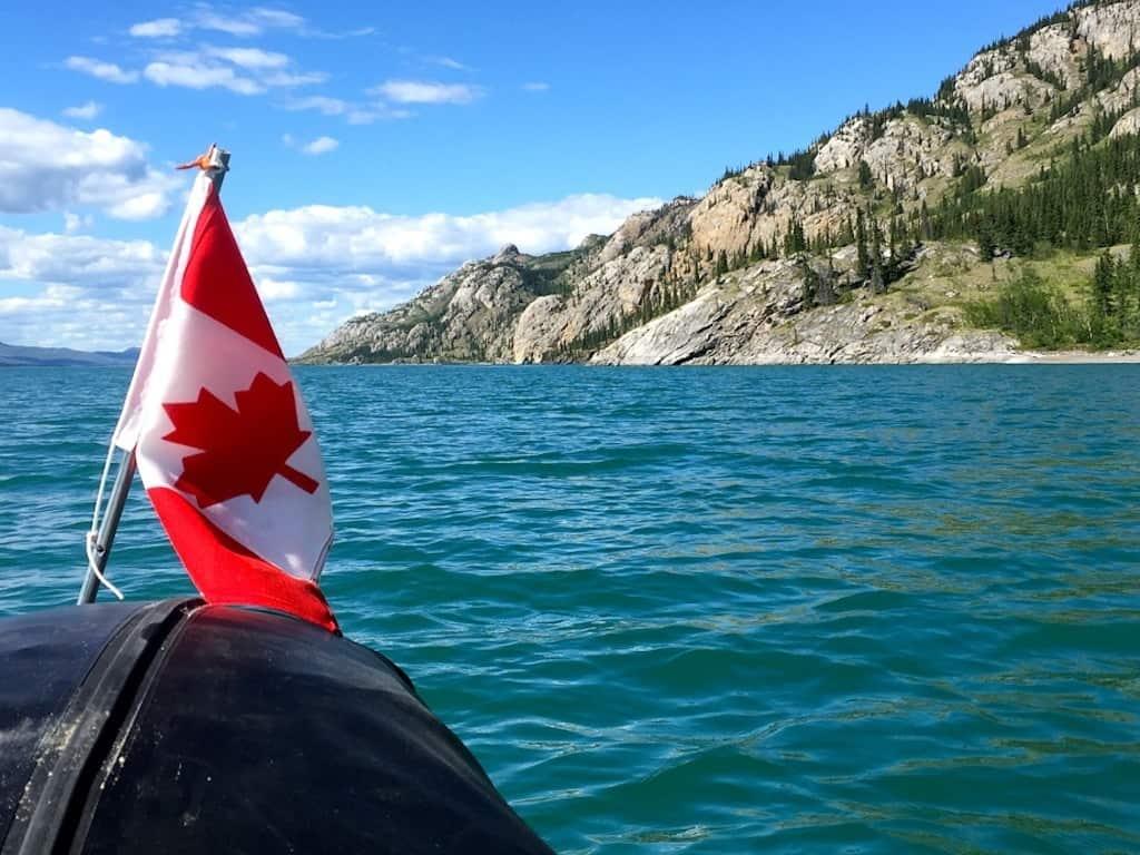 Kanu in Kanada auf dem Yukon River