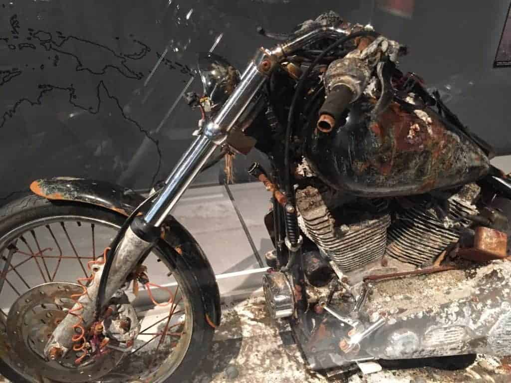 Motorcycle that floated from Japan to Canada after the 2011 tsunami.