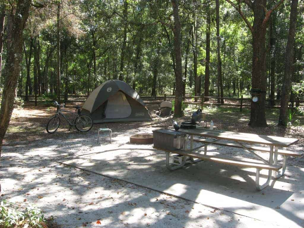 Camping at Kelly Park Rock Springs Park (Orange County)